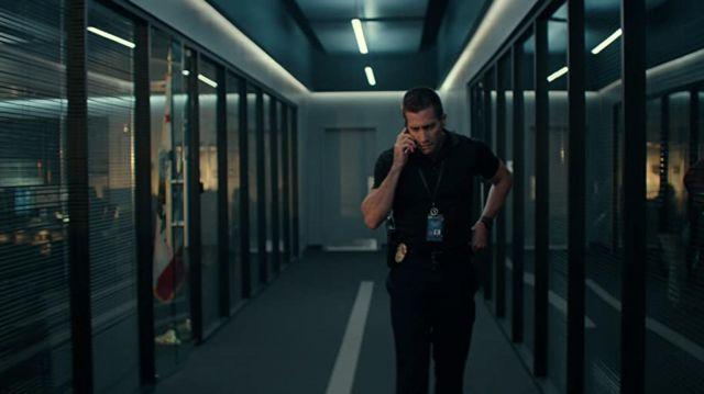 Digital black watch worn by Joe Baylor (Jake Gyllenhaal) as seen in The Guilty movie