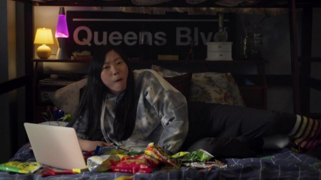 Tie and dye hoodie worn by Nora (Awkwafina) as seen in Awkwafina is Nora From Queens outfits (Season 2 Episode 6)