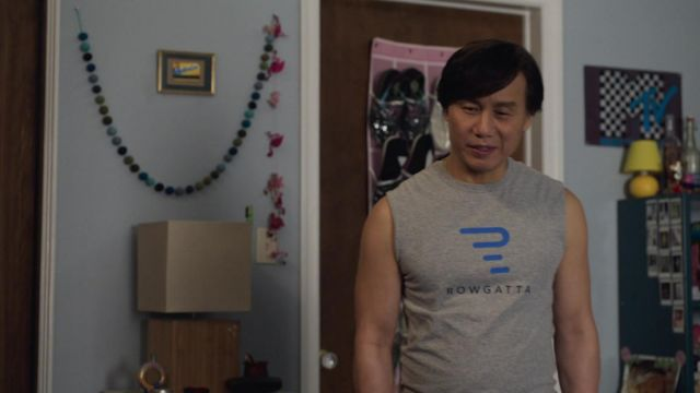 Rowgatta T-Shirt in grey worn by Wally (B.D. Wong) as seen in Awkwafina is Nora From Queens (Season 2 Episode 6) TV series