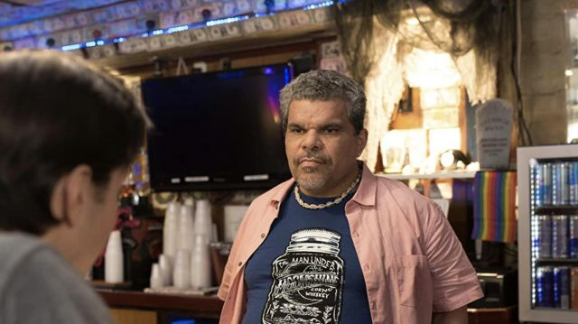 Blue Printed Tee Shirt worn by The Bartender (Luis Guzmán) as seen in Lady of the Manor movie wardrobe
