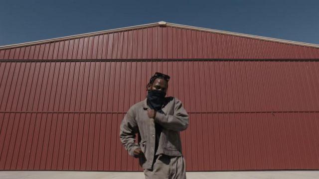 Sandcolored jacket worn by Kendrick Lamar in family ties music Video by Baby Keem, Kendrick Lamar